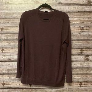 Theory 100% Wool Maroon Sweater